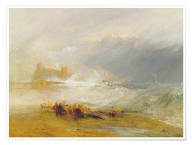 Póster  Wreckers - Coast of Northumberland - Joseph Mallord William Turner