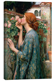 Lienzo  Alma de la rosa - John William Waterhouse