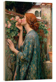 Cuadro de madera  Alma de la rosa - John William Waterhouse