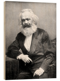 Cuadro de madera  Karl Marx - English Photographer