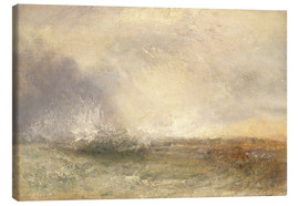 Lienzo  Stormy Sea Breaking on a Shore - Joseph Mallord William Turner