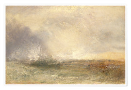 Póster  Mar en tempestad - Joseph Mallord William Turner