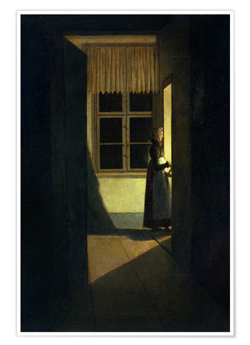 Póster The Woman with the Candlestick