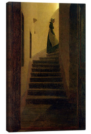 Lienzo  Caroline on the stairs - Caspar David Friedrich