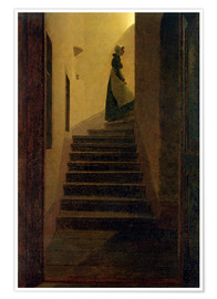 Póster  Caroline on the stairs - Caspar David Friedrich