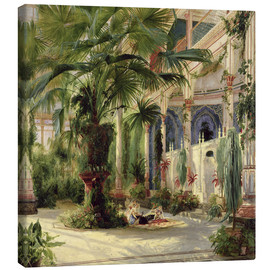 Lienzo  Interior of the Palm House at Potsdam - Carl Blechen