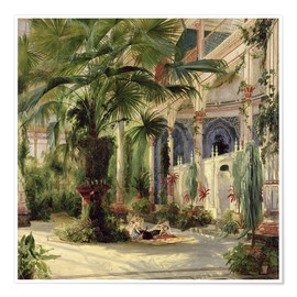 Póster  Interior of the Palm House at Potsdam - Carl Blechen