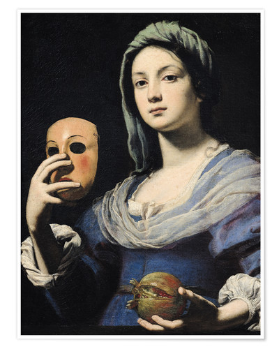 Póster Woman with a Mask