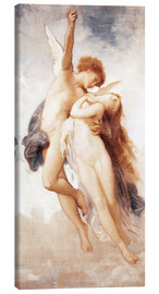Lienzo  Cupid and Psyche - William Adolphe Bouguereau
