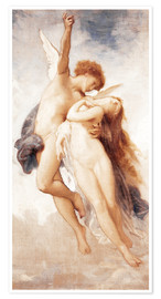 Póster  Cupid and Psyche - William Adolphe Bouguereau