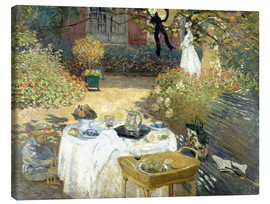 Lienzo  The Luncheon: Monet's garden at Argenteuil - Claude Monet