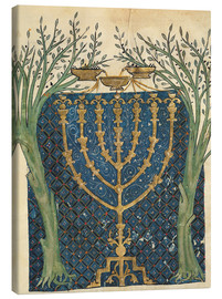 Lienzo  Illumination of a menorah - Joseph Asarfati