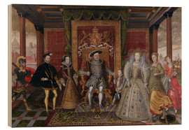 Madera  An Allegory of the Tudor Succession: The Family of Henry VIII - Lucas de Heere