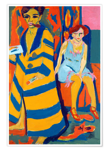 Póster Ernst Ludwig Kirchner with a Model