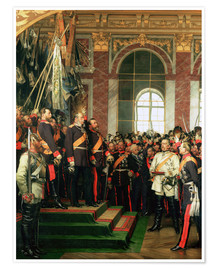 Anton Alexander von Werner - The Proclamation of Wilhelm as Kaiser of the new German Reich