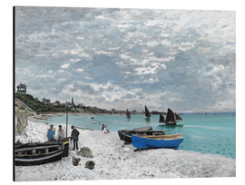 Aluminio-Dibond  The Beach at Sainte-Adresse - Claude Monet