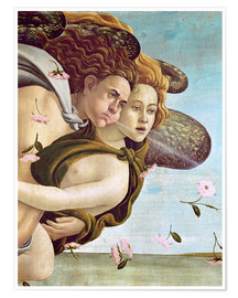 Póster  Zephyr and Chloris - Sandro Botticelli