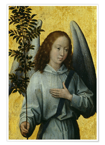 Póster Angel Holding an Olive Branch