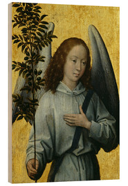 Cuadro de madera  Angel Holding an Olive Branch - Hans Memling