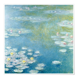 Póster  Nympheas at Giverny - Claude Monet