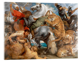Cuadro de metacrilato  The Tiger Hunt - Peter Paul Rubens