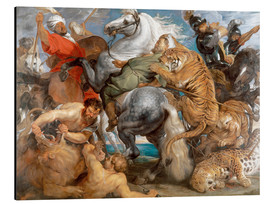 Aluminio-Dibond  The Tiger Hunt - Peter Paul Rubens