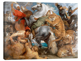 Lienzo  The Tiger Hunt - Peter Paul Rubens
