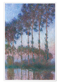 Póster Poplars on the Banks of the Epte