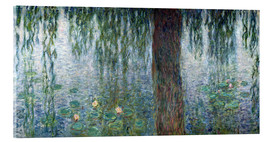 Cuadro de metacrilato  Waterlilies: Morning with Weeping Willows (detail) - Claude Monet