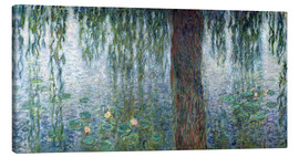 Lienzo  Waterlilies: Morning with Weeping Willows (detail) - Claude Monet
