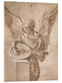 Cuadro de metacrilato  Angel playing a lute - Albrecht Dürer
