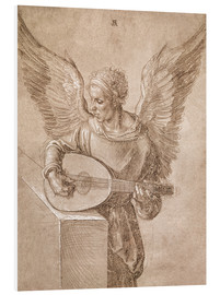 Cuadro de PVC  Angel playing a lute - Albrecht Dürer