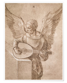 Póster  Angel playing a lute - Albrecht Dürer