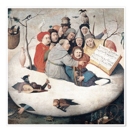 Póster  The Concert in the Egg - Hieronymus Bosch