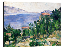 Cuadro de aluminio  View of Mount Marseilleveyre and the Isle of Maire - Paul Cézanne