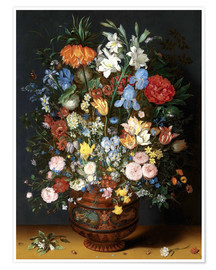 Póster  Vase of Flowers - Jan Brueghel d.Ä.