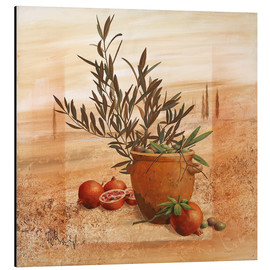 Aluminio-Dibond  Pomegranate and olive harvest - Franz Heigl