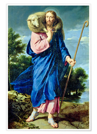 Póster  The Good Shepherd - Philippe de Champaigne