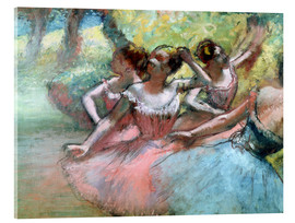 Cuadro de metacrilato  Four ballerinas on the stage - Edgar Degas