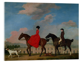Cuadro de metacrilato  John and Sophia Musters riding at Colwick Hall - George Stubbs