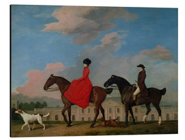 Cuadro de aluminio  John and Sophia Musters riding at Colwick Hall - George Stubbs