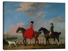 Lienzo  John and Sophia Musters riding at Colwick Hall - George Stubbs