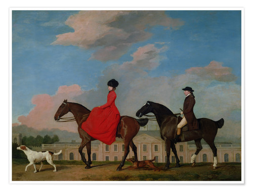 Póster John and Sophia Musters riding at Colwick Hall