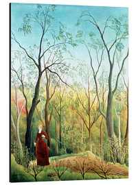 Cuadro de aluminio  The Walk in the Forest - Henri Rousseau