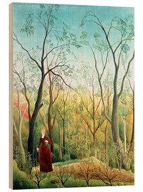 Cuadro de madera  The Walk in the Forest - Henri Rousseau