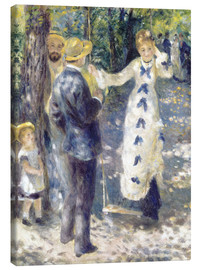 Lienzo  The Swing - Pierre-Auguste Renoir