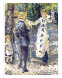 Póster  The Swing - Pierre-Auguste Renoir