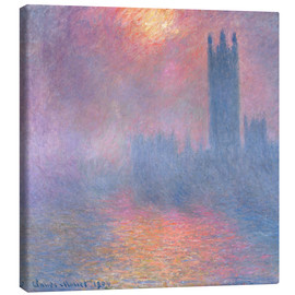 Lienzo  The Houses of Parliament - Claude Monet