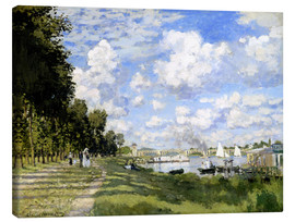 Lienzo  The Marina at Argenteuil - Claude Monet