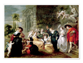 Póster  The Garden of Love - Peter Paul Rubens